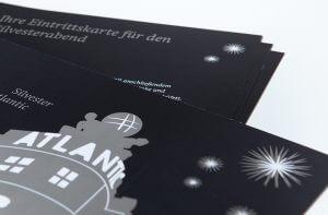 Eintrittskarten Hotel Atlantik von deerns und jungs Designagentur Köln