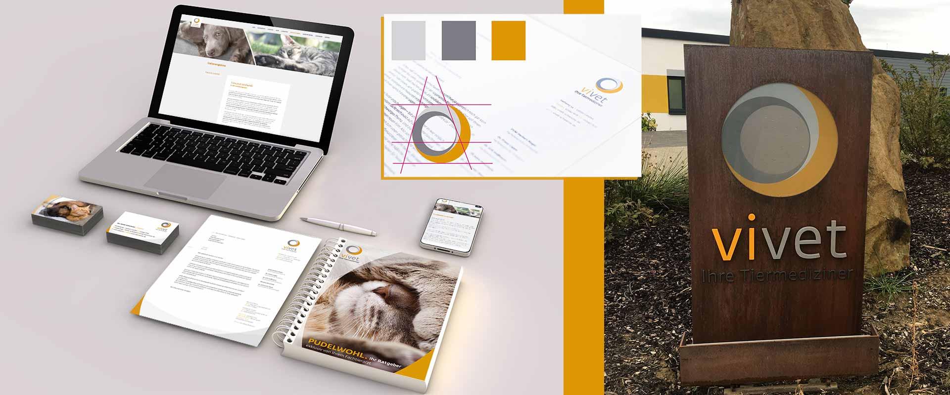 Corporate Design Tierarztpraxis von Designagentur Hamburg