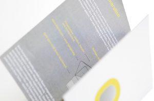 Flyer für Kühltheke von deerns und jungs Corporate Design Agentur Köln