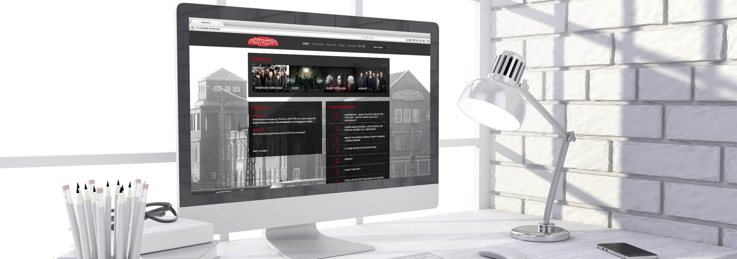 Webdesign für Veranstaltungszentrum