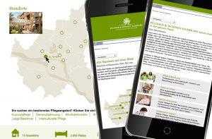 mobile Website Pflegeheim von deerns und jungs Werbeagentur Köln