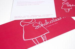 Werbeflyern für Schokolaterie von deerns und jungs Design Agentur Köln