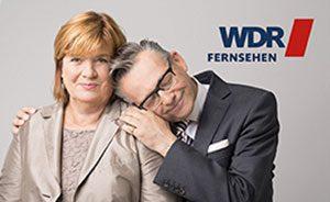 Gestaltung Online Banner mit Götz Alsmann und Christine Westermann zum Abschied der Serie »Zimmer frei!«