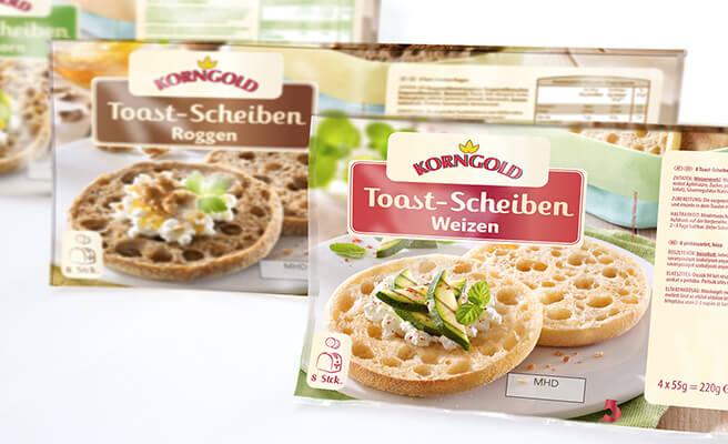 Gestaltung Packaging Design für Food: Toastbrötchen für Aldi Österreich
