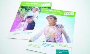 Magazin Gestaltung und Redaktion für Krankenkasse