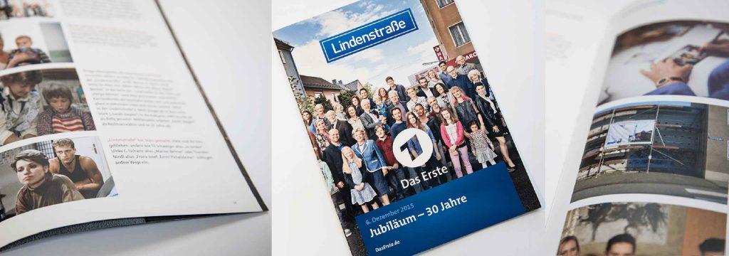 Presseheft Layout ARD Lindenstraße