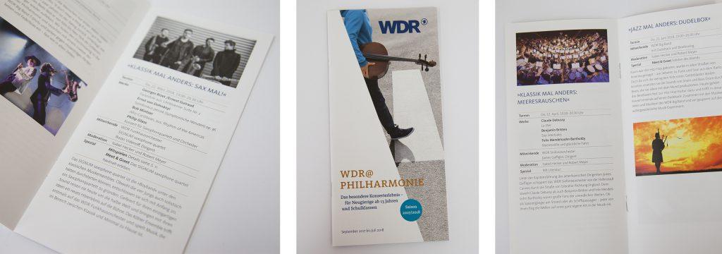 deerns und jungs design, Corporate Design Agentur Köln, Werbeagentur Köln, gestaltet Werbe-Flyer und Programmflyer für philharmonisches Musikangebot
