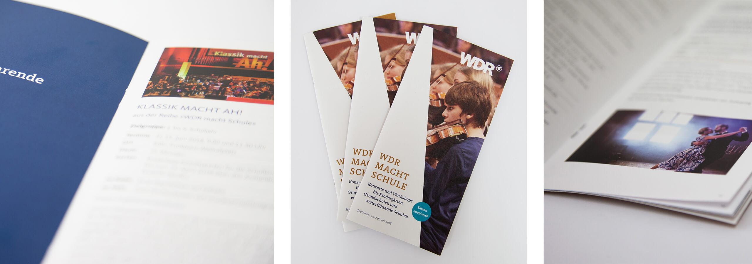 deerns und jungs design, Corporate Design Agentur Köln, Werbeagentur Köln, gestaltet Werbe-Flyer und Programmflyer für musikalisches Angebot des WDR.