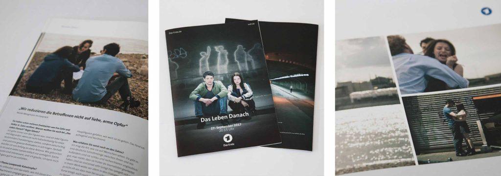 deerns und jungs design, Corporate Design Agentur Köln, Werbeagentur Köln, Gestaltung Presseheft zum Film »Das Leben danach«.