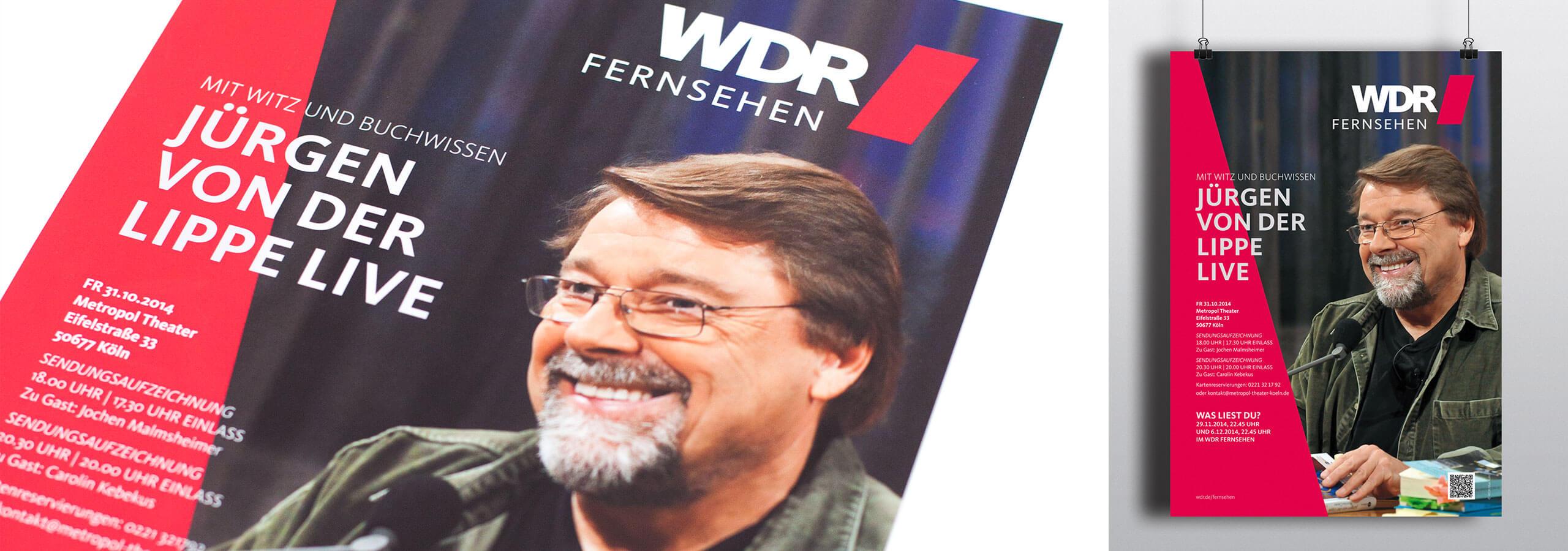 deerns und jungs design, Corporate Design Agentur Köln, Plakatkampagne, Plakatgestaltung, Gestaltung Plakate für WDR Fernsehen