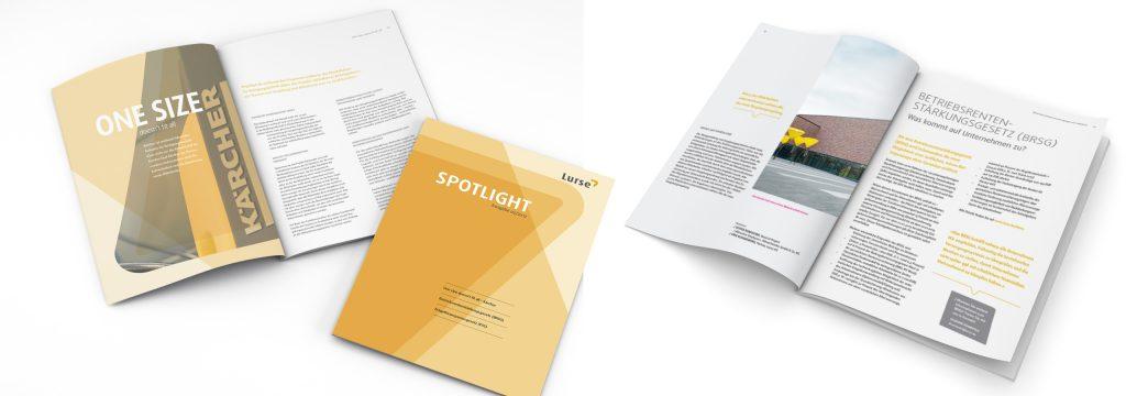 Editorial Design für Lurse AG, Gestaltung Unternehmensbroschüre von deerns und jungs design, Agentur für Corporate Design, Köln