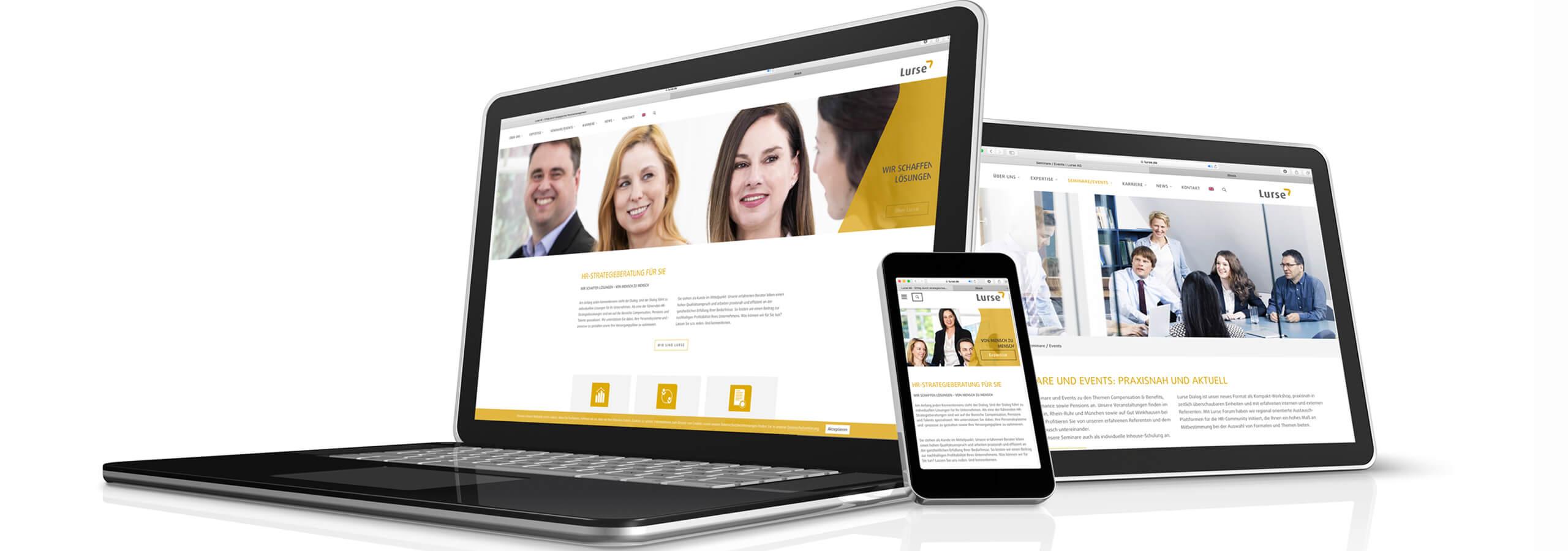 responsive Webdesign für Unternehmensberatung, Agentur deerns und jungs Köln