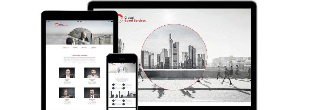 modernes Webdesign für Unternehmensberatung