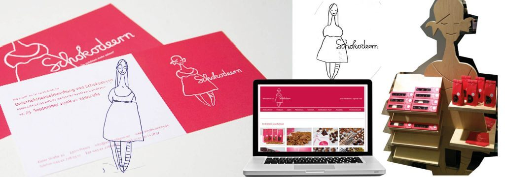 Corporate Design Entwicklung Schokolaterie