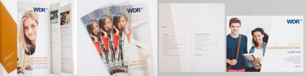 Flyer-Gestaltung für den WDR von Design Agentur Hamburg