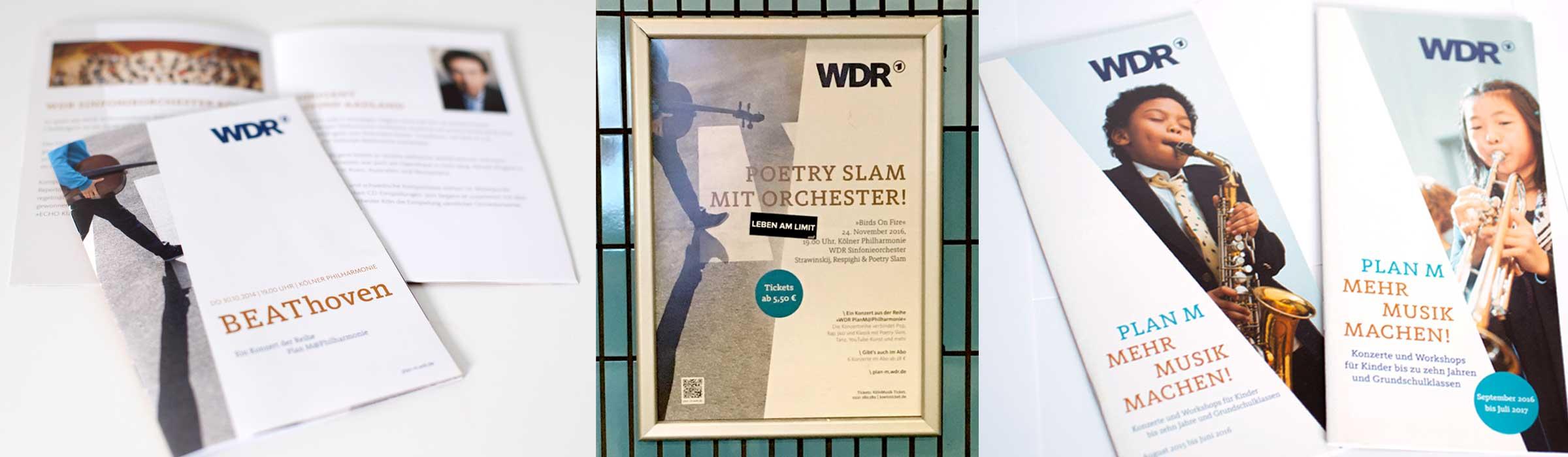 Print-design-wdr Dachmarke für verschiedene Konzerte