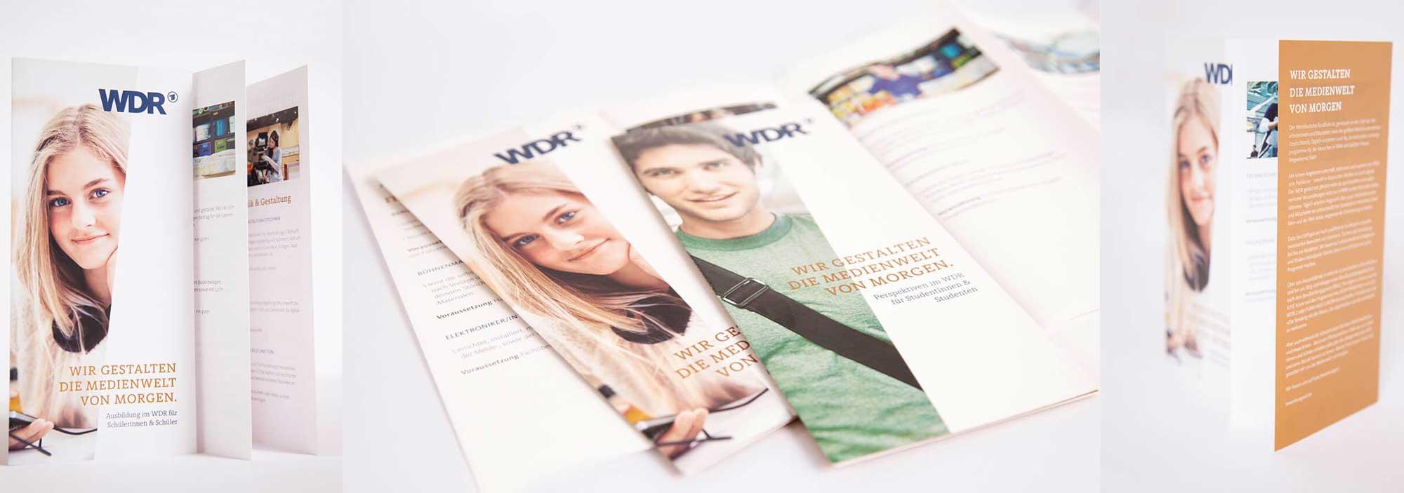 Recruiting Flyer Design Medienberufe