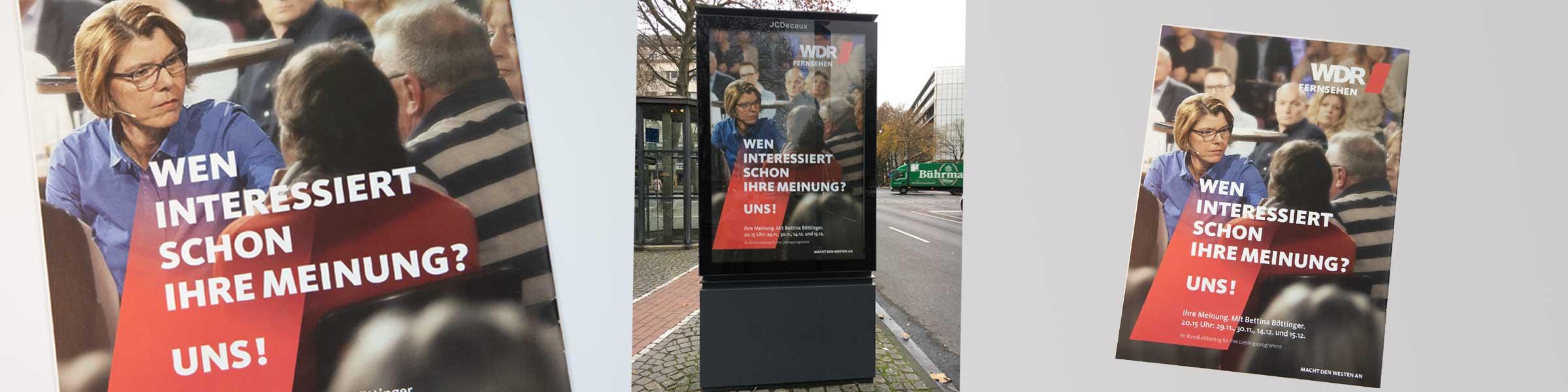 Werbekampagne für WDR Fernsehen von Designbüro