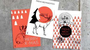 Weihnachtskarten im eigenen Design von deerns und jungs Design Agentur Hamburg