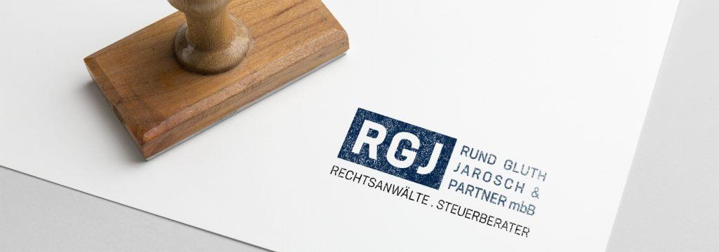 Logo Redesign Anwalt RGJ von Designagentur Hamburg