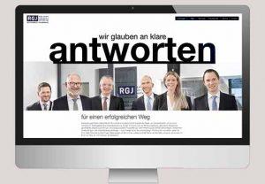 Web Redesign RGJ Anwälte Design Agentur Hamburg Design Agentur Köln