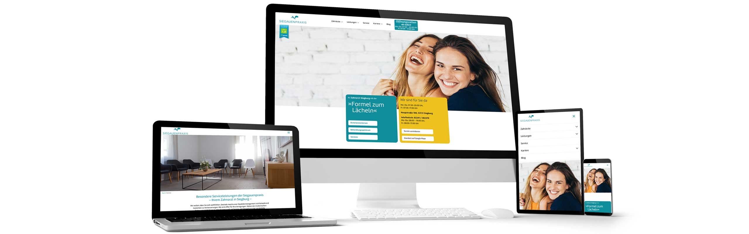Designagentur Köln relauncht Zahnarzt Webdesign und bringt Praxis auf Seite 1 bei google