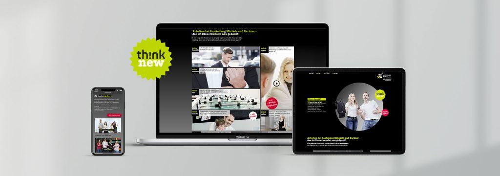 Karrieremoderne Website Steuerkanzlei von Design Agentur Hamburg