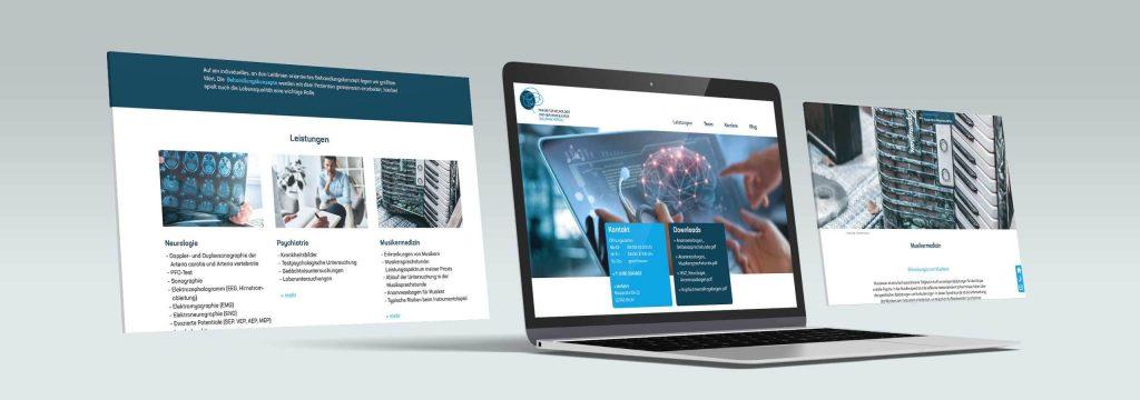 Webdesign für neue Praxiswebsite von Design Agentur Hamburg