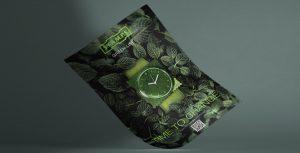 Posterdesign nachhaltige Uhren Key Visual Green-Line Stamps von Design Agentur Hamburg