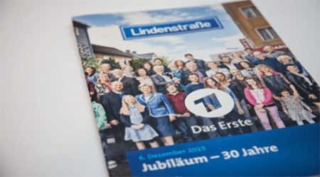 Presseheft »Lindenstraße« für ARD gestaltet von Designagentur Köln